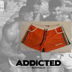 Addicted Square Cut Swim Briefs Small 28-30 RARE